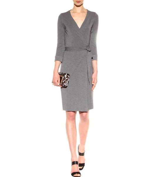 Diane Von Furstenberg Julian Two Stretch Wrap Dress in Night Fall