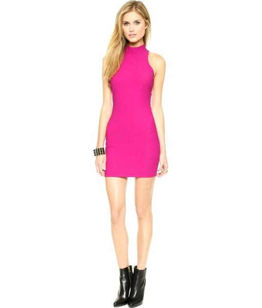 Elizabeth and James Mini Jade Dress in Ultra Pink