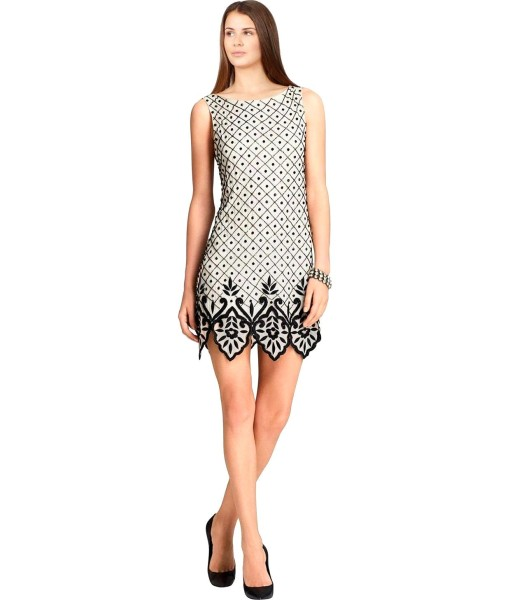 alice + olivia Art Deco Dot Sleeveless Cocktail Dress