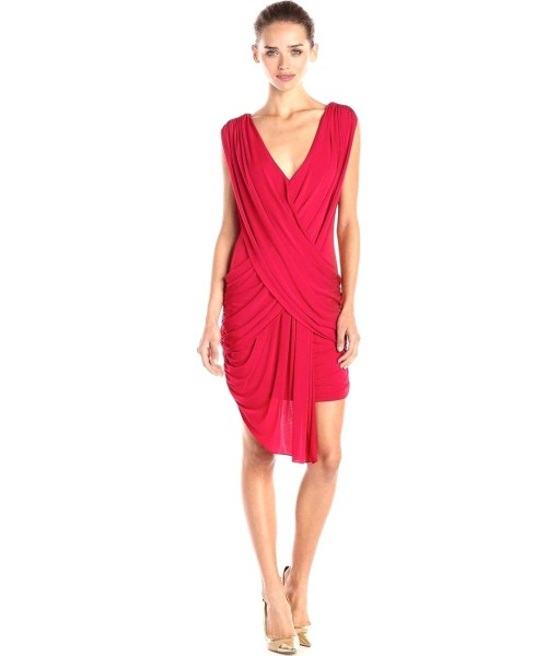 BCBGMAXAZRIA Elize Jersey Bodycon Dress in Red