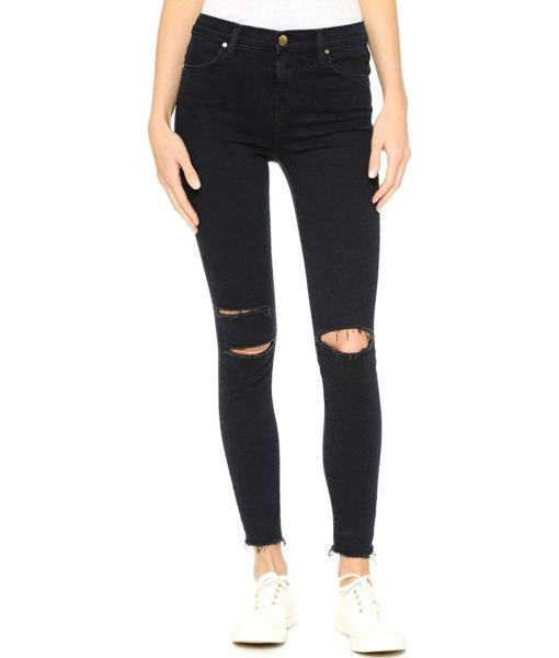 J Brand Jeans High Rise Alana Crop Jeans in Blue Mercy