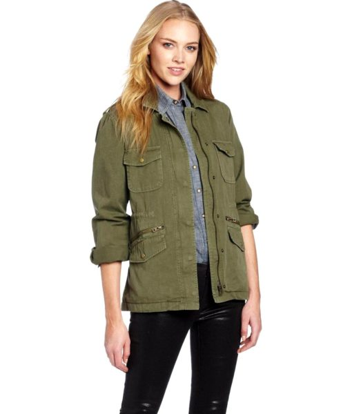 Velvet by Graham & Spencer Army Jacket in Forest