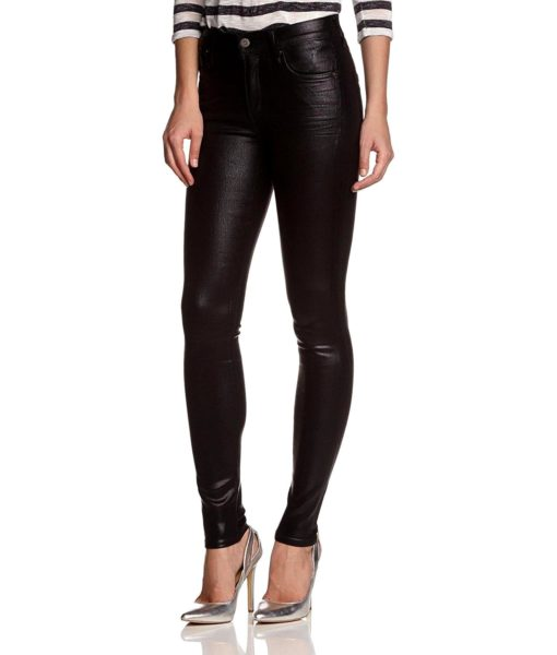 Citizens of Humanity Rocket Leatherette Jeans in Black