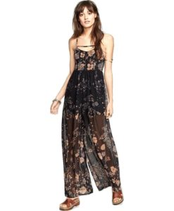 Free People Womens Meadow Ruffled Jumpsuit