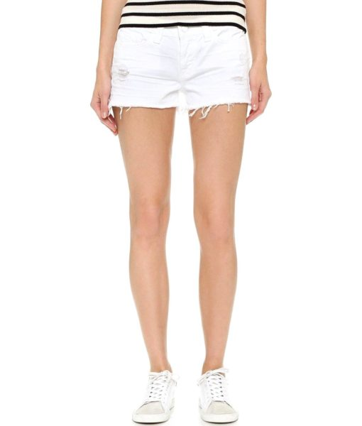 J Brand Jeans 1046 Cutoff Shorts in White Vixen