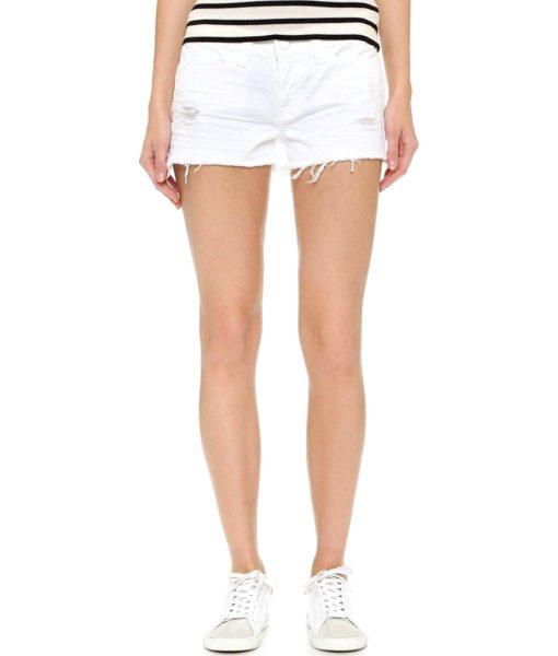 J Brand Jeans 1046 Cutoff Shorts in White Vixen