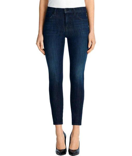 J Brand Jeans Alana High-Rise Crop in Daring