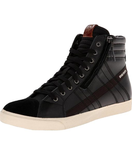 Diesel D-velows D-string Fashion Sneaker in Black, Anthracite and Licorice