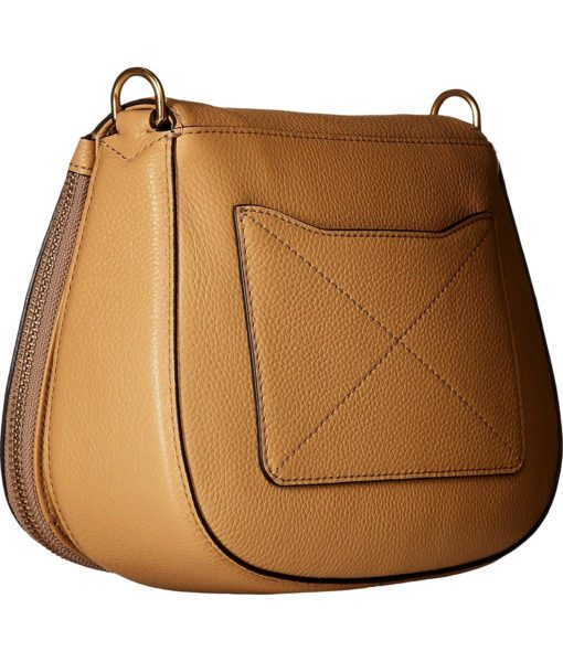 Marc Jacobs Recruit Small Saddle Bag Golden Beige Handbag