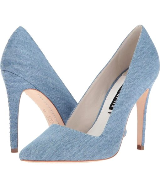 alice + olivia Dina Blue Denim Shoe