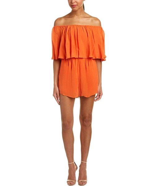 alice + olivia Alivia Romper in Orange