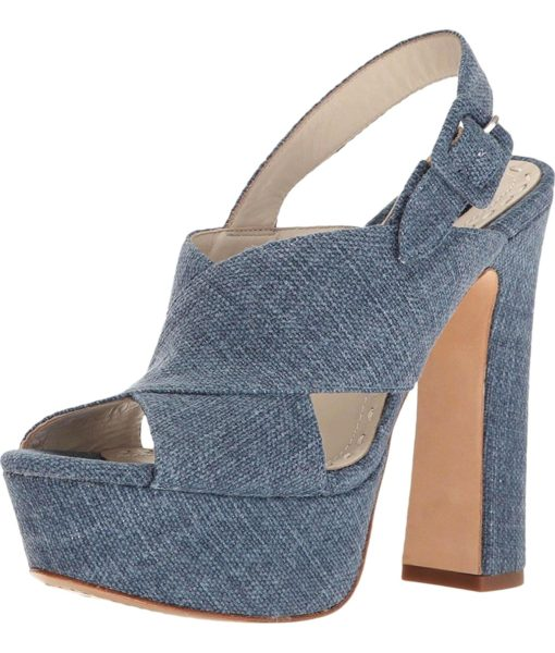 alice + olivia Larissa Blue Denim Sandal