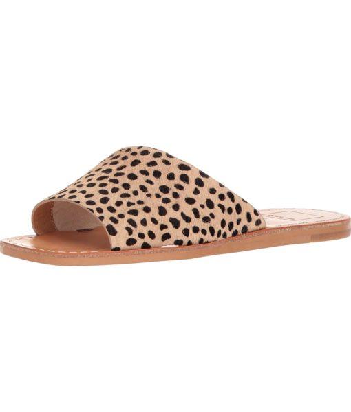 Dolce Vita Cato Slide Sandal in Leopard Calf Hair
