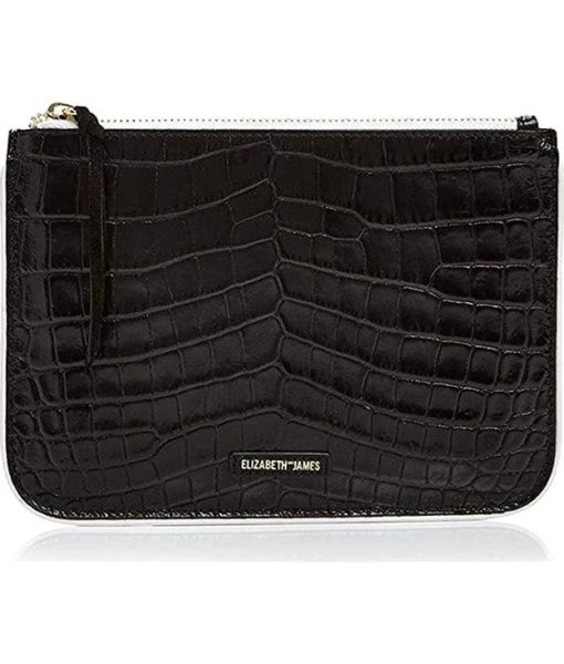 Elizabeth and James Color Block Embossed Leather Pouch