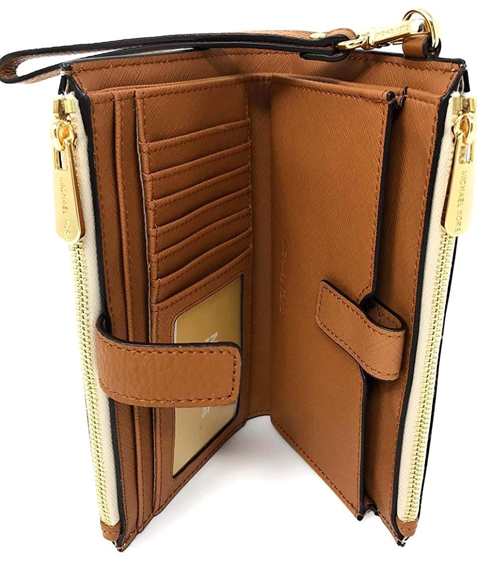 31aa3a40fdf8 Jet Set Travel double Zip Wristlet in Vanilla Acorn - Authentic Designer  Clothes