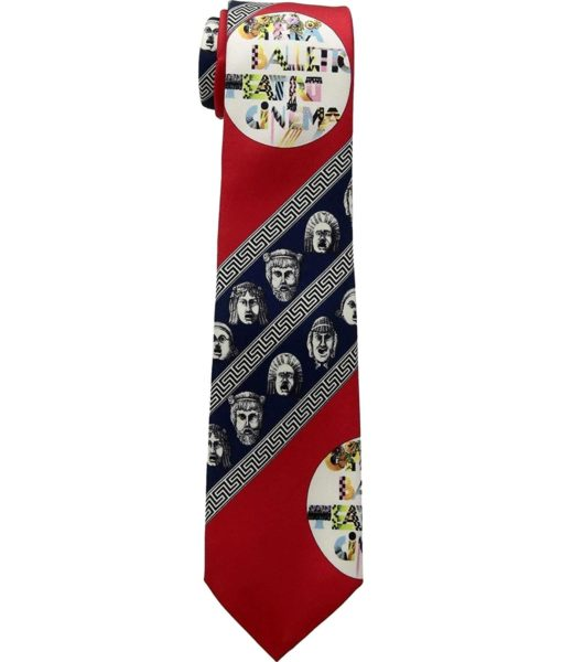 Versace Versace Printed Tie Red