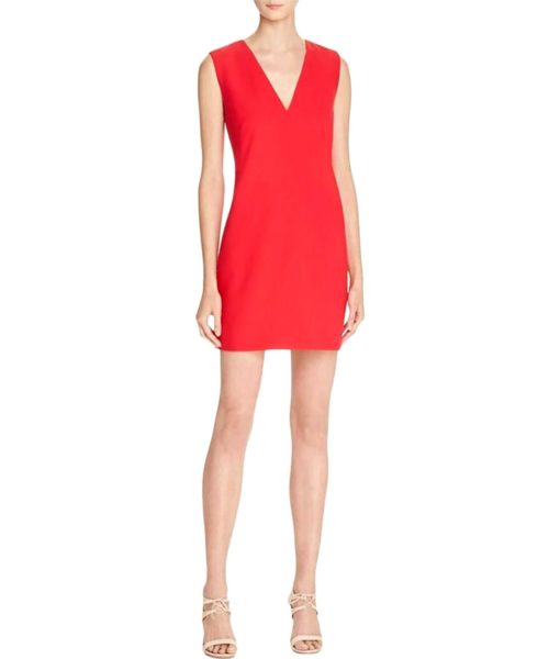 Elizabeth and James Sleeveless Knee-Length Party Dress in Red