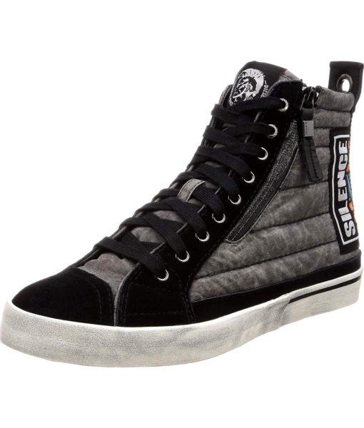 Diesel D-Velows MID Patch Sneaker in Black
