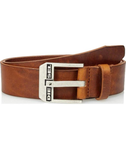 Diesel Diesel Men's Bluestar Leather Belt in Lion
