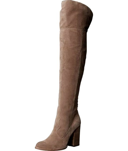 Dolce Vita Cliff Western Boot in Light Taupe